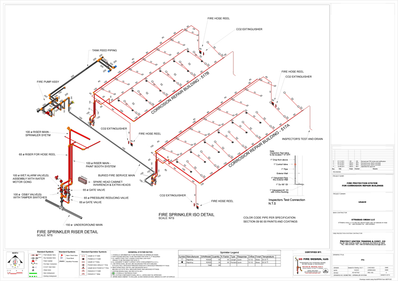 services 3d fire design fire sprinkler design piping riser diagram
