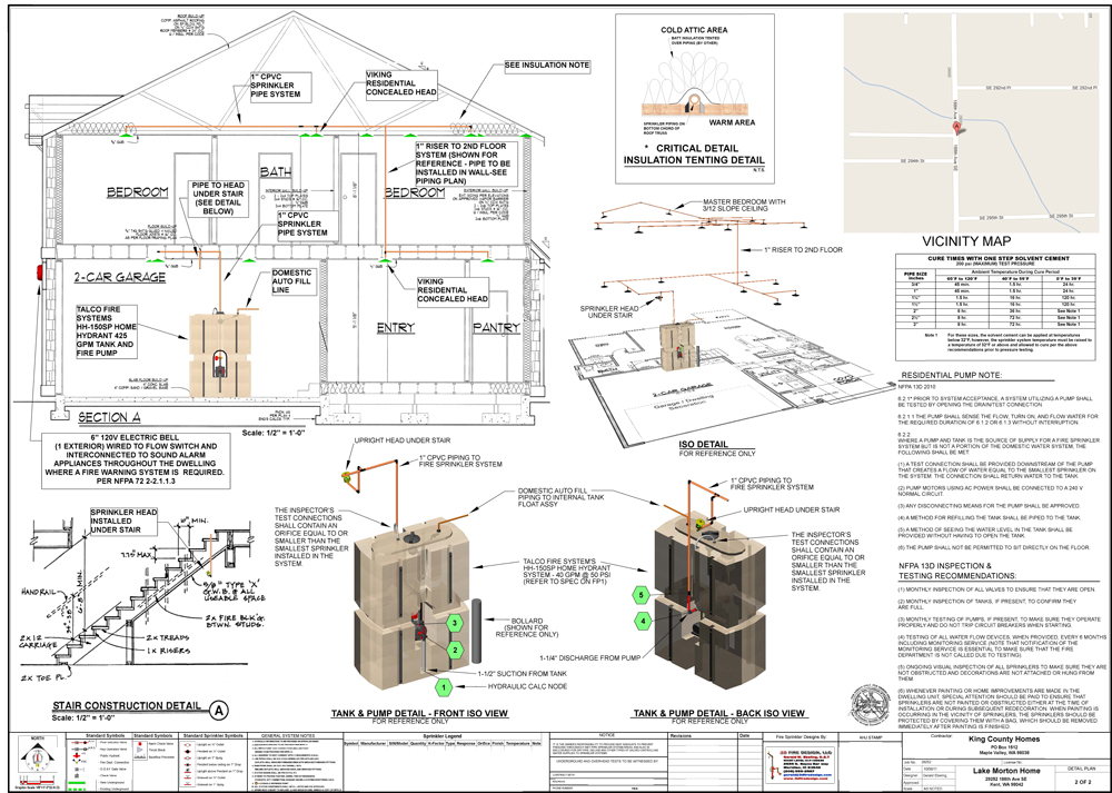 home fire sprinkler system design lake morton - Home Sprinkler System Design