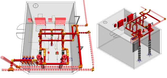 Fire Sprinkler Design Sprinklers System Designs Nationwide 3d Designer Fire Suppression Pumps Bim Design 3d Fire Design